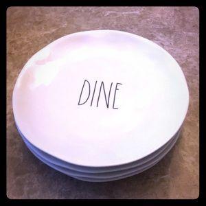 """NWOT Rae Dunn 10"""" plate set"""